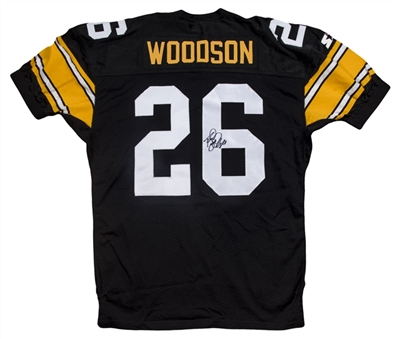 1995 Rod Woodson Game Issued & Signed Pittsburgh Steelers Home Jersey (JSA)