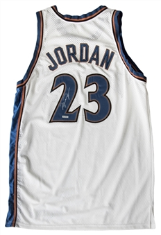 2002-03 Michael Jordan Game Used, Signed & Photo Matched Washington Wizards Home Jersey – Photo Matched To 12/18/02 Wizards/Grizzlies Game! (MeiGray, PSA/DNA, JSA & Resolution Photomatching)