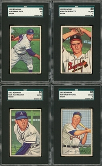 "1952 Bowman ""High Numbers"" SGC-Graded Collection (4 Different)"