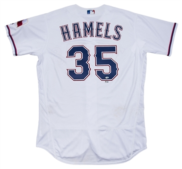 2016 Cole Hamels Game Used Texas Rangers Home Jersey Used On Opening Day 4/4/16 (MLB Authenticated & MEARS A10)