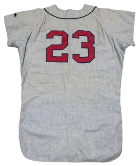 1967 Denny Lemaster Game Used Atlanta Braves Road Flannel Jersey