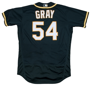 2017 Sonny Gray Game Used & Photo Matched Oakland As Alternate Jersey Used on 7/14/2017 (MLB Authenticated, MEARS A10, Resolution Photomatching)