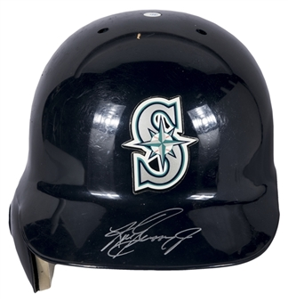 1996 Ken Griffey Jr Game Used & Signed Seattle Mariners Batting Helmet (JT Sports & Beckett)