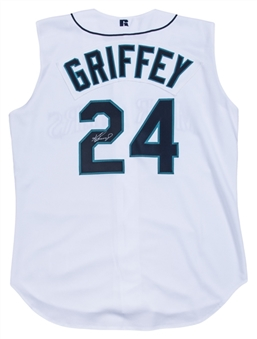 Ken Griffey Jr Signed Seattle Mariners Sleeveless Home Jersey Vest (PSA/DNA)