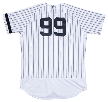 2017 Aaron Judge Game Used New York Yankees Rookie Season Home Jersey Used On 9/20/17 For Career Home Run #49 (MLB Authenticated, Sports Investors & Yankees-Steiner)-Photo Matched