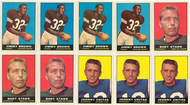 1961 Topps Football High Grade Collection (171) Including Hall of Famers