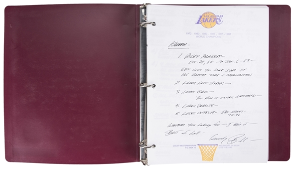 1989 Bill Bertkas Original Playbook For Kareem Abdul-Jabbars Final Season (Abdul-Jabbar LOA)