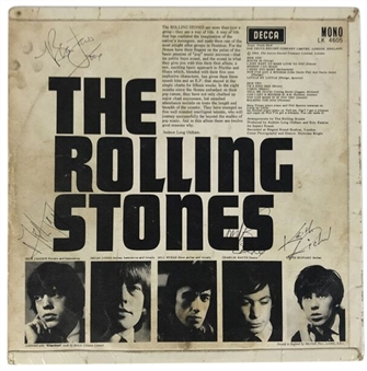 The Rolling Stones Vintage Signed Debut Album Cover Signed By With 4 Signatures: Jagger, Jones, Watts and Richards (JSA)