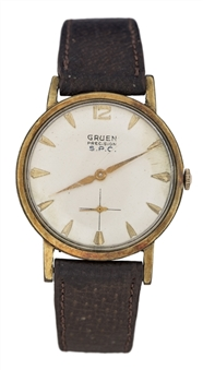 1960s Gruen Precision Watch Given To Lew Alcindor (Abdul-Jabbar LOA)