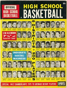 1964 High School Basketball Magazine - 8 Districts, 200 Players (Abdul-Jabbar LOA)