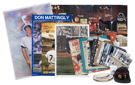 Lot of (35) New York Yankees Memorabilia Featuring Mickey Mantle & Don Mattingly