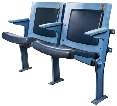 Original Yankee Stadium Pair of Seats (MLB Authenticated & Yankees-Steiner)