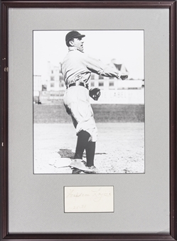 1938 Nap Lajoie Signed Cut Dated 1-25-38 With Photo In 17x23 Framed Display (Beckett)