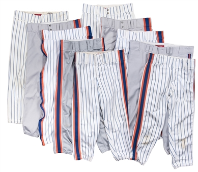 Lot of (10) 1980s New York Mets Game Used Pants