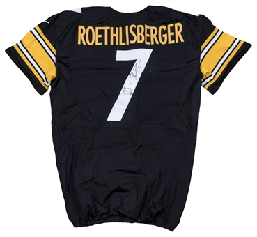 2014 Ben Roethlisberger Game Used & Signed Pittsburgh Steelers Home Jersey (MEARS A10 & Beckett)