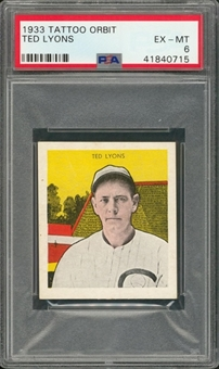 1933 R305 Tattoo Orbit Ted Lyons – PSA EX-MT 6
