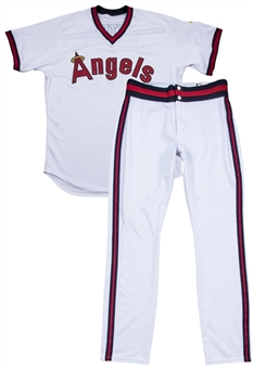 2018 Shohei Ohtani Game Used Los Angeles Angels 1980s TBTC Home Run Uniform: Jersey Worn On 8/27/18 & Pants Worn On 8/27/18 & 8/28/18 - First Ohtani Full Uniform Ever Offered (MLB Authenticated)