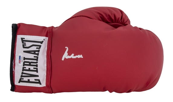 Muhammad Ali Signed Red Everlast Glove (PSA/DNA GEM MINT 10) - PSA/DNA Witnessed Ali Signature!