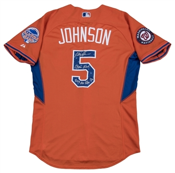 2013 Davey Johnson Game Worn, Signed & Inscribed National League All-Star Jersey (JSA)