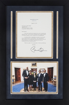 2011 Barack Obama Typed Letter To Kareem Abdul-Jabbar With Photo In 13x21 Framed Display (Abdul-Jabbar LOA)