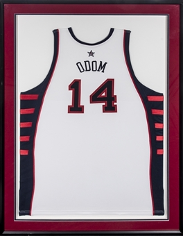 2004 Lamar Odom Game Used Team USA Basketball White Jersey (Letter of Provenance)