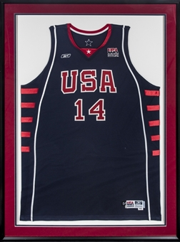 2004 Lamar Odom Game Used Team USA Basketball Navy Jersey (Letter of Provenance)