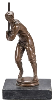 Bronze Batter Baseball Statue