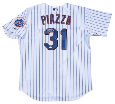 "Mike Piazza Signed & ""31"" Inscribed New York Mets Home Jersey (JSA)"