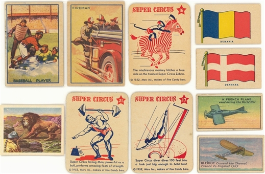 "1930s-1940s ""R""-Gum Cards Collection (150+) Including Near and Partial Sets"