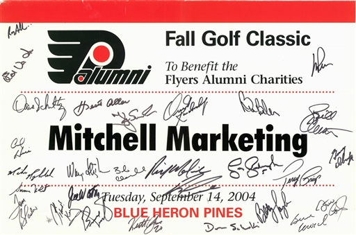 Philadelphia Flyers Greats Multi Signed Fall Golf Classic Tee Marker With 28 Signatures (Beckett)