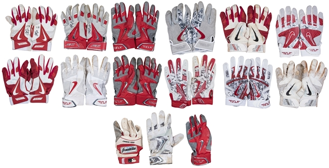 Lot of (27) Mike Trout Game Used & Signed Batting Gloves Including 12 Pairs and 3 Individual Gloves (Anderson Authentics)