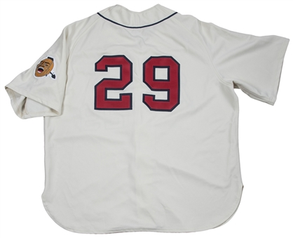 2006 John Smoltz Game Used & Signed Atlanta Braves 1966 Turn Back The Clock Home Jersey (Sports Investors Authentication & PSA/DNA)