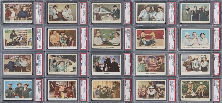 "1959 Fleer ""Three Stooges"" PSA-Graded Near Set (93/96) Including Sixty PSA MINT 9 Examples!"