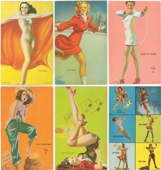 "1940-45 Mutoscope ""Pin-Up Girls"" Arcade Cards Collection (148 Different)"