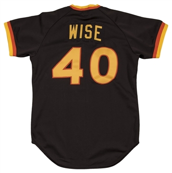 1982 Rick Wise Game Used San Diego Padres Road Jersey