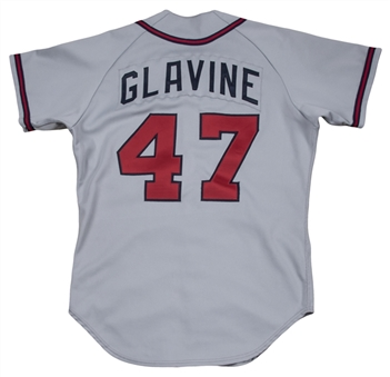 1987 Tom Glavine Rookie Game Used Atlanta Braves Road Jersey (Sports Investors Authentication)