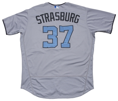 2017 Stephen Strasburg Game Used & Photo Matched Washington Nationals Road Alternate Fathers Day Jersey Used on 6/17/2017 (MLB Authenticated, MEARS A10 & Resolution Photomatching)