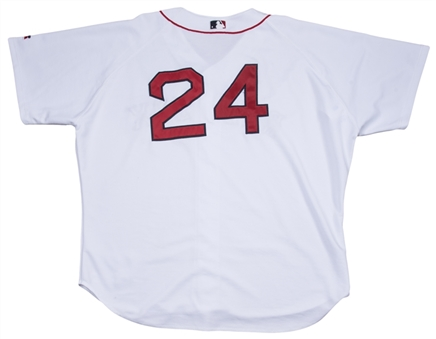 2004 Manny Ramirez Game Used Boston Red Sox Home Jersey (MEARS)