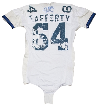 Circa 1984 Tom Rafferty Game Used & Signed Dallas Cowboys Jersey (JSA)