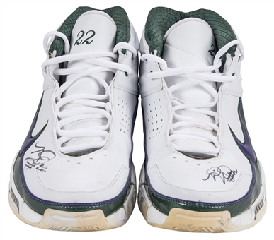 Michael Redd Game Used & Signed Nike Sneakers (Player LOA & JSA)
