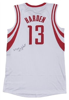 2012-13 James Harden Game Used & Signed Houston Rockets Home Jersey (Player LOA & JSA)