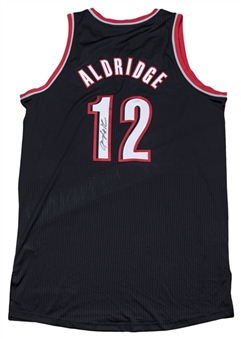 2010 LaMarcus Aldridge Game Used & Signed Portland Trail Blazers Road Jersey (Player LOA & JSA)