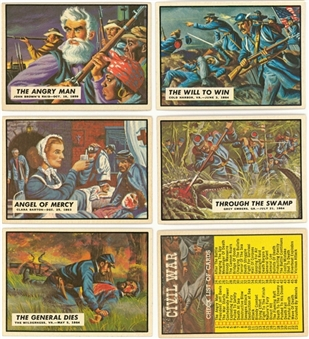 "1962 Topps ""Civil War News"" Complete Set (88) Plus Currency Inserts"