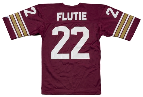 1981-1984 Doug Flutie Game Used Boston College Eagles Home Jersey (MEARS A10)