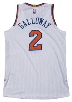 2014-15 Langston Galloway Game Used New York Knicks Home Jersey (Steiner)
