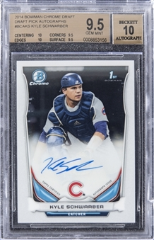 2014 Bowman Chrome Draft Picks #BCAKS Kyle Schwarber Signed Rookie Card – BGS GEM MINT 9.5/BGS 10
