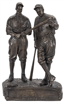 Babe Ruth & Lou Gehrig Bronze Statue By Artist Palmer Murphy (LE 174/1927)