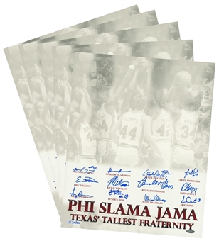 Lot of (5) Texas Tallest Fraternity Phi Slama Jama Multi Signed Photo With 12 Signatures (Tristar)