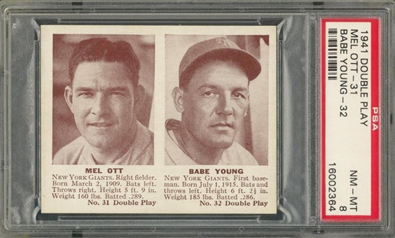 1941 Double Play #31-32 Mel Ott/Babe Young – PSA NM-MT 8