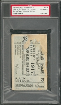 1917 World Series Game 5 Grand Stand Box Seat Pass From 10/13/1917 (PSA)
